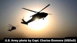 Helicóptero de EEUU en Afganistán el 16 de septiembre de 2015. Foto de archivo.