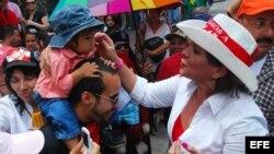 Xiomara Zelaya esposa de derrocado Presidente de Honduras, Manuel Zelaya.