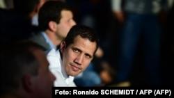 El líder de la oposición venezolana, Juan Guaidó. (Ronaldo Schemidt / AFP).