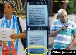 Lismery Quintana, acosada por oficial que se hace llamar Luisito.
