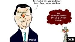 Garrincha's cartoon about Bruno Rodriguez