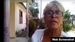 Yolanda Carmenate Fernández, 61 años de edad, presa política cubana. Fuente: UNPACU. (Tomado de YouTube).
