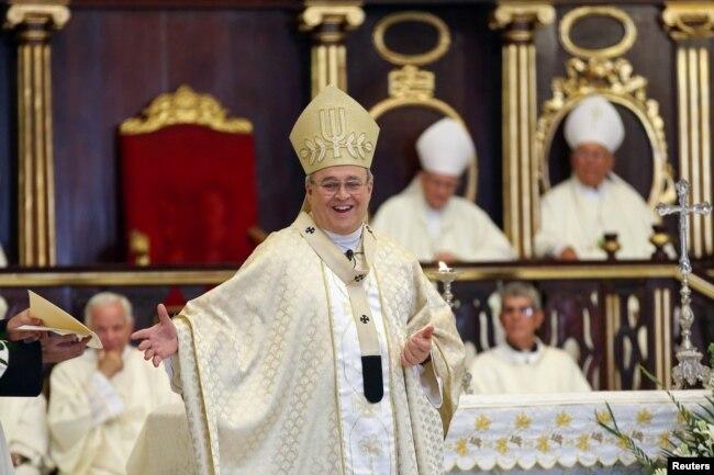 El cardenal Ortega, entonces Arzobispo, durante una misa en la Catedral de La Habana, el 7 de mayo de 2016. (REUTERS/Alexandre Meneghini/Archivo)