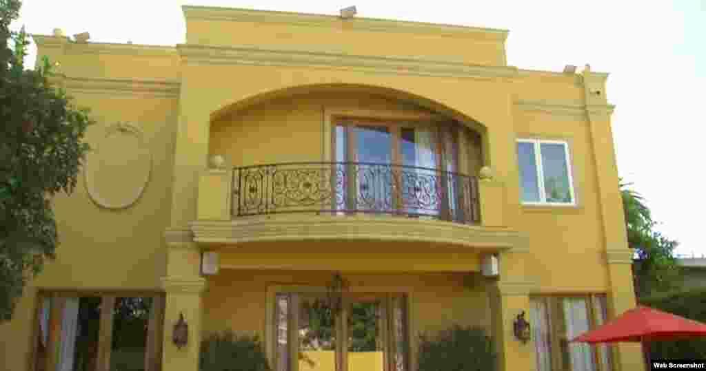 La casa de Puig está ubicada en las cercanías del Dodger Stadium, en Los Ángeles, California.