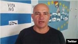 Ebert Hidalgo Cruz, integrante de la Union Patriótica de Cuba.