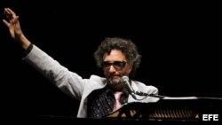 El cantante argentino Fito Páez en concierto en La Habana (Cuba).