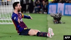 El delantero argentino de Barcelona, Lionel Messi.
