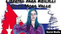 Póster en redes sociales en solidaridad con Keilylli de la Mora