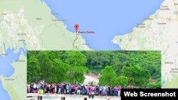 Cerca de 500 cubanos llegan a Puerto Obaldía, en Panamá, tras atravesar la selva colombiana.