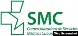 El logotipo de la Comercializadora de Servicios Médicos Cubanos, S.A.