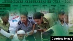 Informe de Observatorio Cubano de DDHH indicó que en febrero se produjeron 243 arrestos arbitrarios.