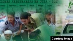 El informe del Observatorio Cubano de DDHH indicó que en febrero se produjeron 243 arrestos arbitrarios.