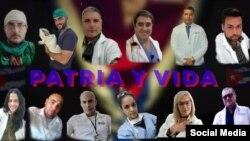 Médicos cubanos se unen contra la Dictadura por una Cuba de Patria y Vida. (Foto: Facebook)