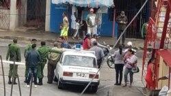 Operativo policial en la sede de UNPACU, en Santiago de Cuba. (Foto: Facebook)