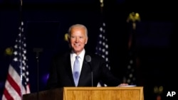 El presidente electo Joe Biden, el pasado 7 de noviembre en el estado de Delaware. (Andrew Harnik / AP Photo).