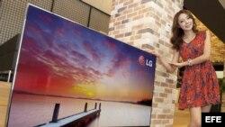 Nuevo televisor inteligente 3D de 60 pulgadas de LG en Seúl (Corea del Sur).