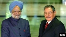 En 2006, el primer ministro indio, Manmohan Singh, estuvo en La Habana para participar en la Cumbre del Movimiento No Alineado.
