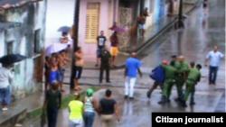 Reporta Cuba. Arrestos en Santa Clara. Foto: Nacan Press. Archivo.