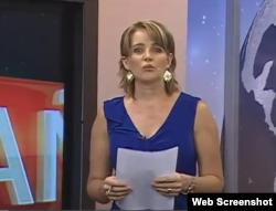 La periodista ecuatoriana Janet Hinostroza.