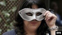 """La escritora británica E. L. James, autora de """"Cincuenta sombras de Grey""""."""