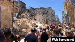 Derrumbe en Centro Habana (Foto Archivo/Augusto César San Martí/Cubanet).