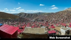 Larung Gar, el mayor monasterio del Tíbet y uno de las mayores instituciones de enseñanza de busdismo del mundo.