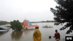Zona inundada en Ciego de Ávila, Cuba, el 26 de mayo de 2012.