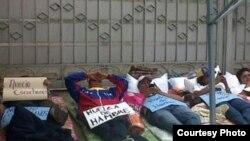 Huelga de hambre en la Nunciatura Apostólica de Caracas.