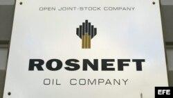 Logo de la empresa rusa petrolera Rosneft.