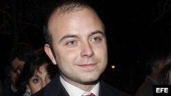 El dirigente de Nuevas Generaciones Ángel Carromero.