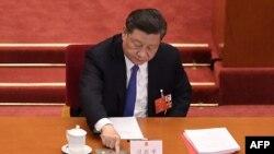 Xi Jinping, gobernante de China, durante la votación sobre la Ley de Seguridad Nacional que se ha aplicado en Hong Kong.