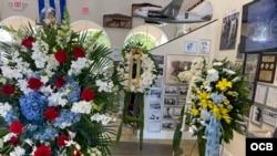 Funeral de Esteban Bovo en el Museo de la Brigada 2506 en Miami Lakes.
