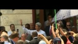 John Kerry caminó por La Habana Vieja