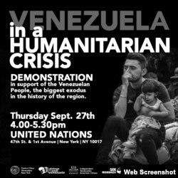 Convocatoria a manifestación en ONU.
