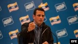 El líder de la oposición venezolana, Henrique Capriles, en una foto de archivo