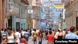 Calle Enramada, Santiago de Cuba.