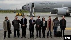El equipo de negociadores del Gobierno colombiano.