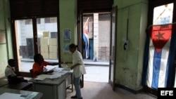 Un colegio electoral en La Habana.