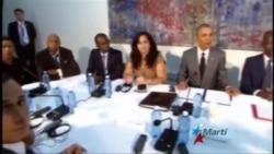 Encuentro de Obama con opositores