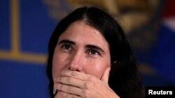 La periodista Yoani Sánchez, editora del diario digital 14ymedio y víctima de una campaña de odio del gobierno comunista de Miguel Díaz-Canel (Joe Skipper/Reuters).