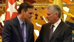 El jefe del gobierno español, Pedro Sánchez, no reunió con la oposición durante su visita a Cuba y tampoco especificó si pidió la liberación de los presos políticos cubanos, como el doctor Eduardo Cardet