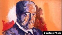 Retrato de Gastón Baquero para el homenaje en Salamanca, España