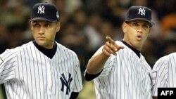 Derek Jeter y Alex Rodriguez.