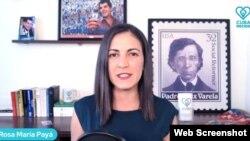 """""""Rumbo al Cambio: Izquierda, Derecha y Uppercut"""", conducido por Rosa María Payá, coordinadora de CubaDecide."""