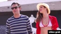 La modelo brasileña Ana Beatriz Barros y el actor estadounidense de ascendencia cubana Bobby Cannavale posan para GQ Magazine.