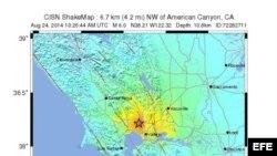 Terremoto California 6.0 magnitud