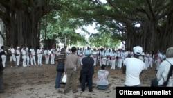 Reporta Cuba. Damas de Blanco, noviembre 30. Foto: Ángel Moya.