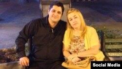 El pastor bautista Josué Rodríguez Legrá junto a su esposa. (Foto perfil de Facebook)