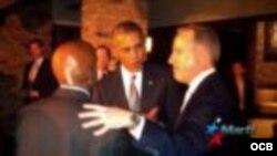 El presidente Barack Obama con Guillermo Fariñas y Jorge Mas Santos