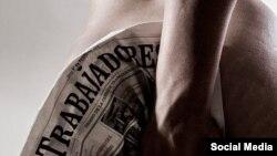 """La foto """"Valor de uso"""" del artista cubano Erick Coll fue censurada en una exposición de arte erótico."""